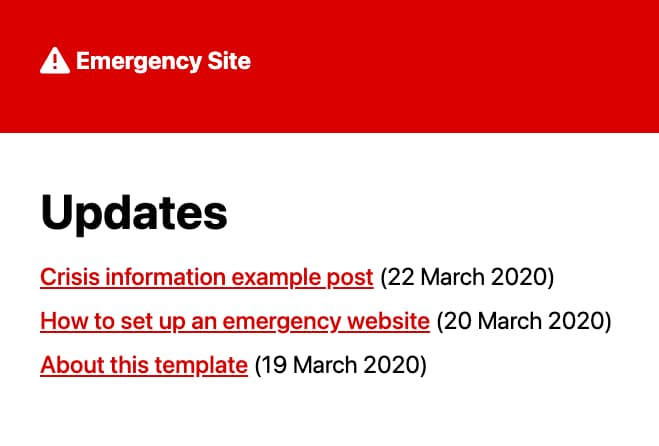 Emergency Site Kit
