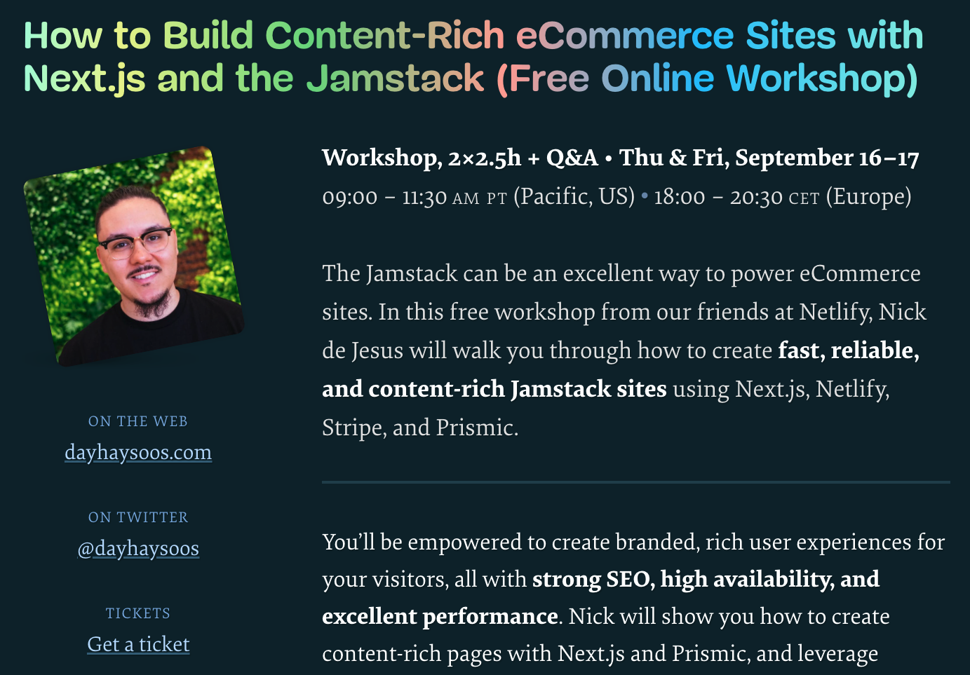 How to Build Content-Rich eCommerce Sites with Next.js and the Jamstack