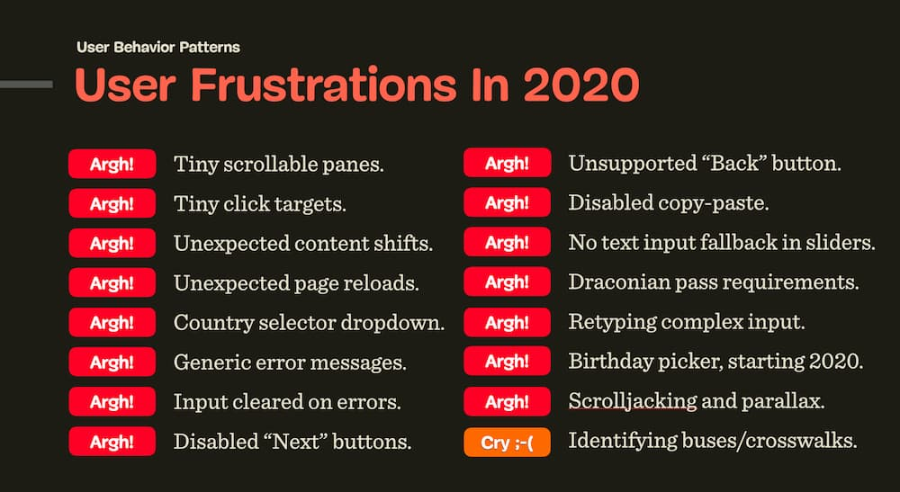 Common User Frustrations in 2020