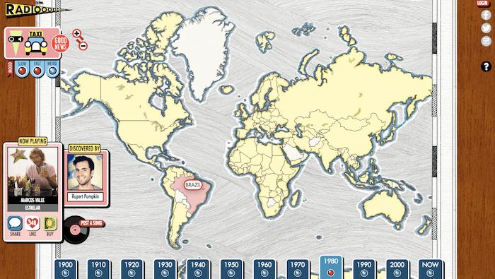 Radiooooo map