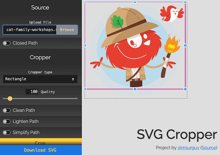 SVG Cropper