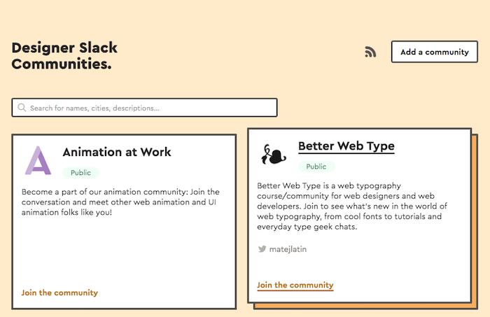 Designer Slack Communities