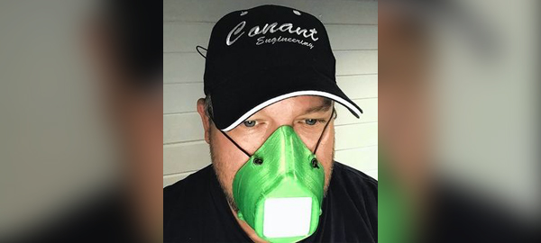 Conant Engineering with face mask.