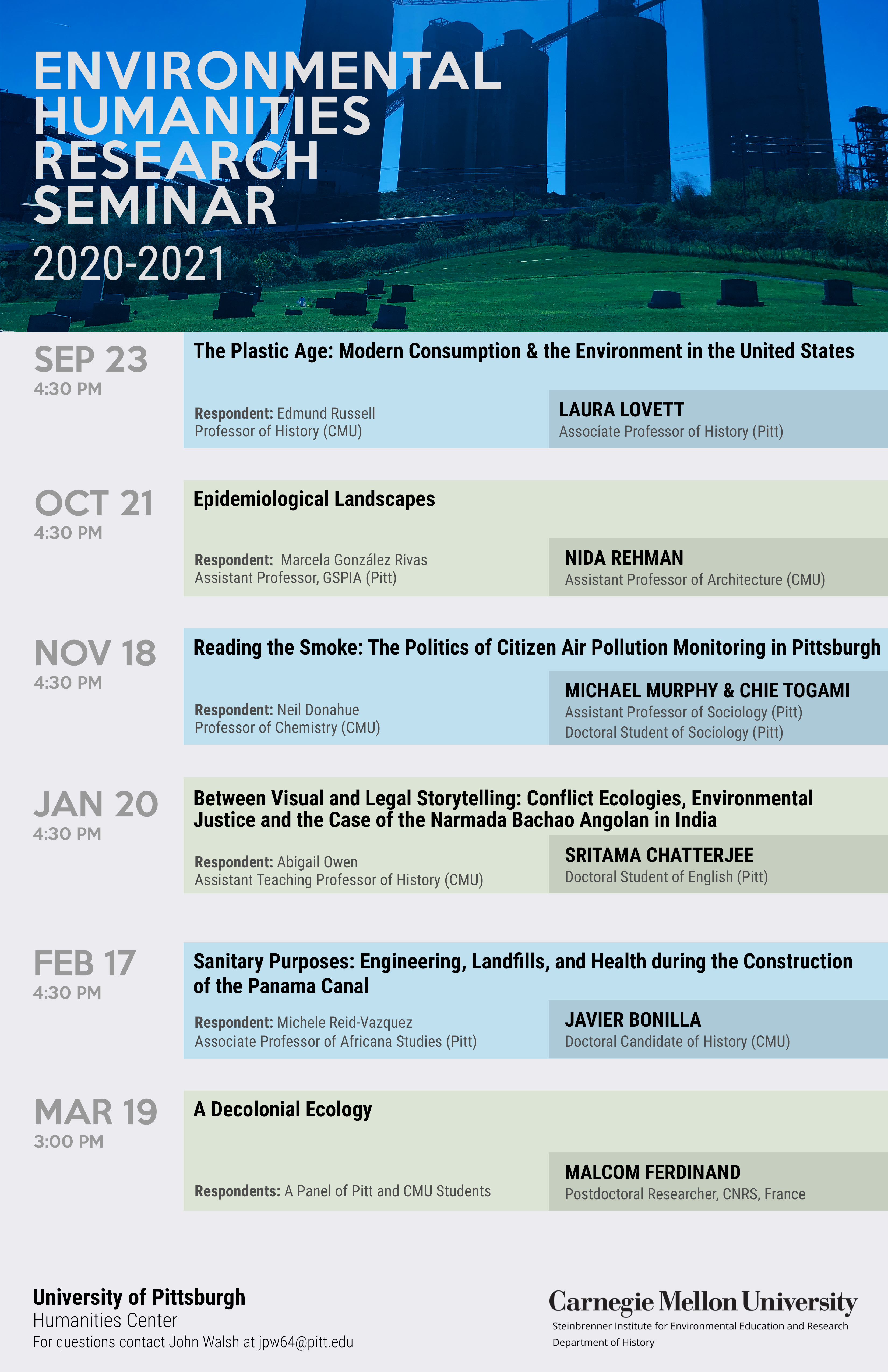 Flyer for Environmental Humanities Research Seminar