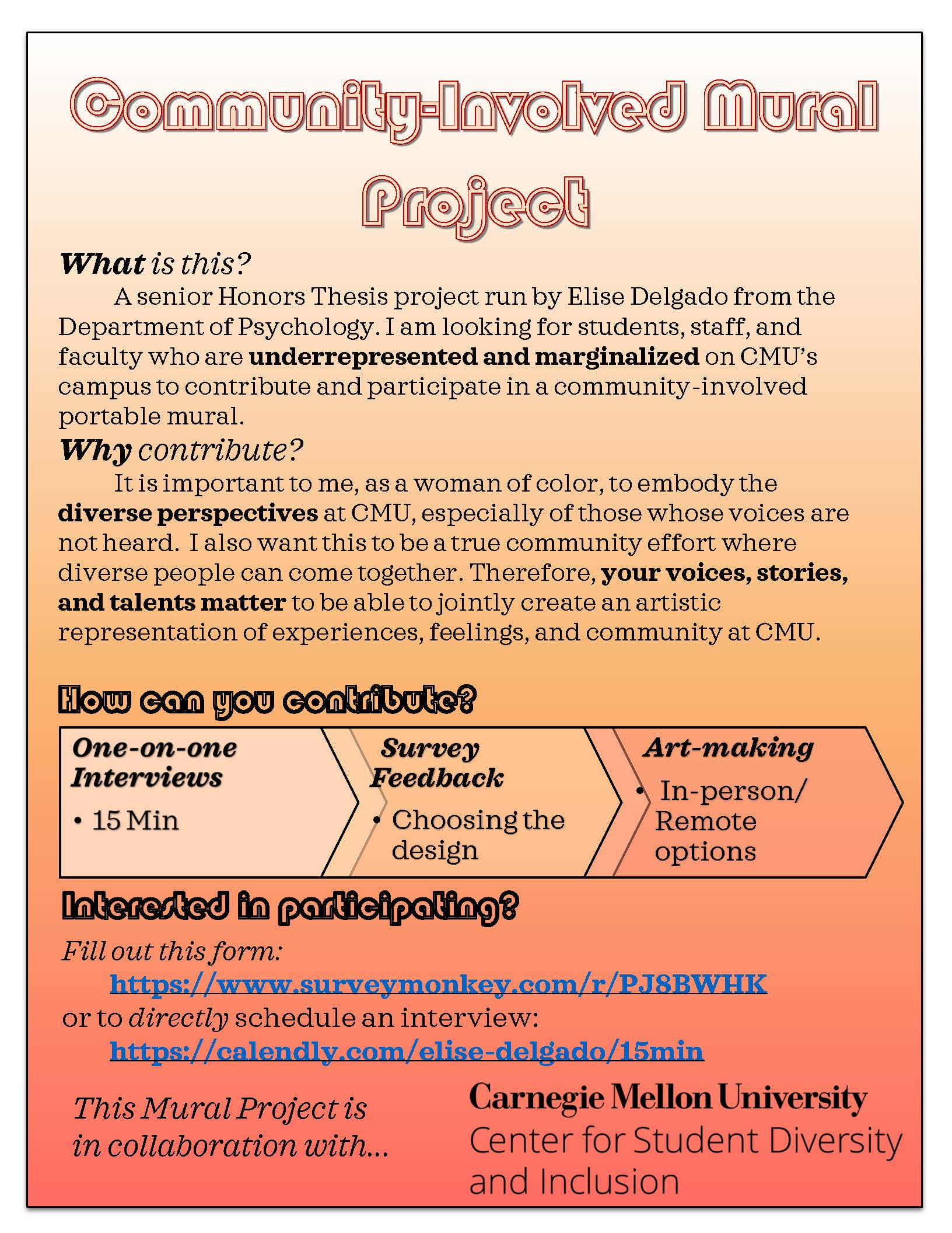 Flyer for Community-Involved Mural Project