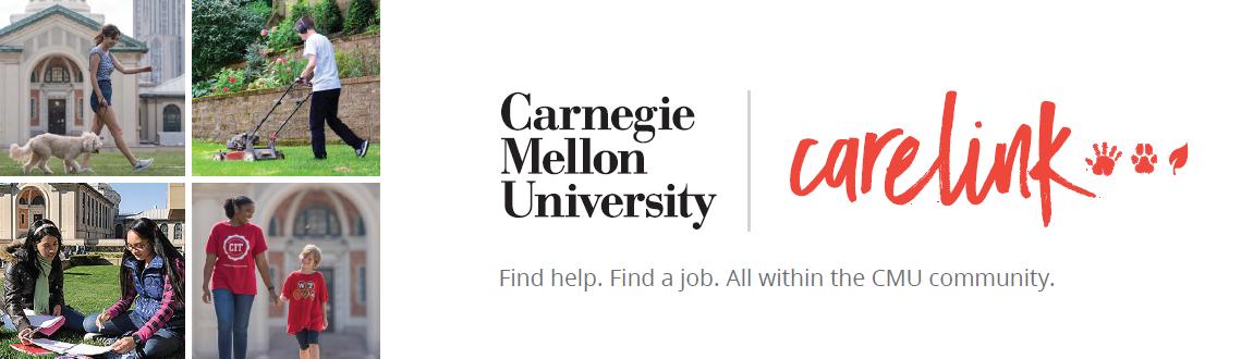 Flyer for Carnegie Mellon Care Link.