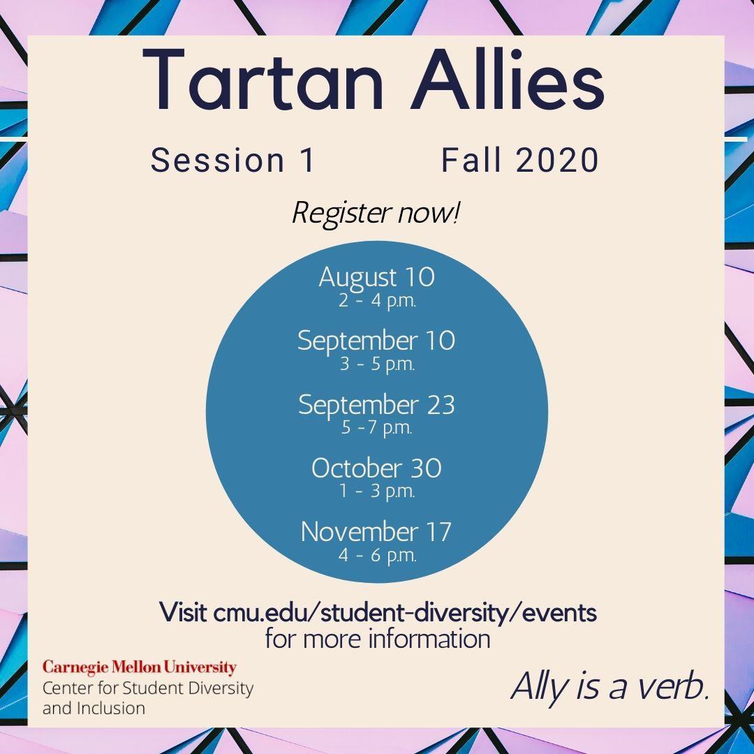 Flyer for Tartan Allies fall 2020