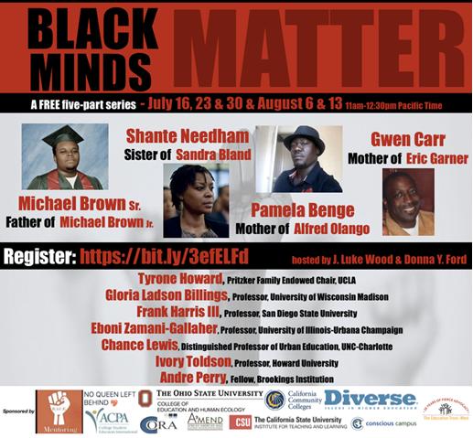 Event flyer for Black Minds Matter