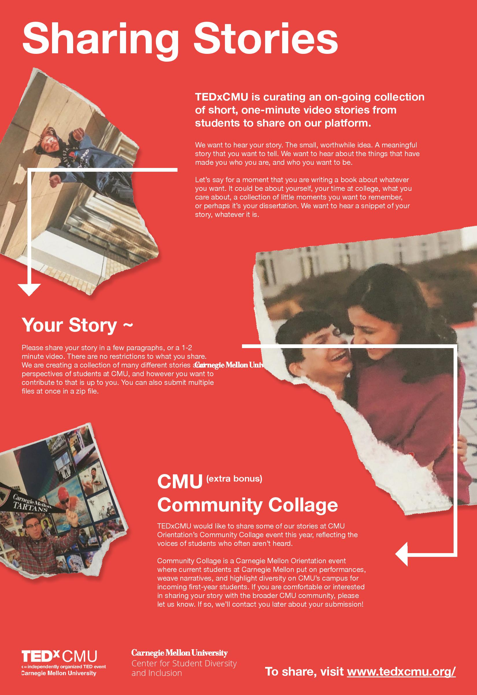 Flyer for TEDxCMU and Community Collage
