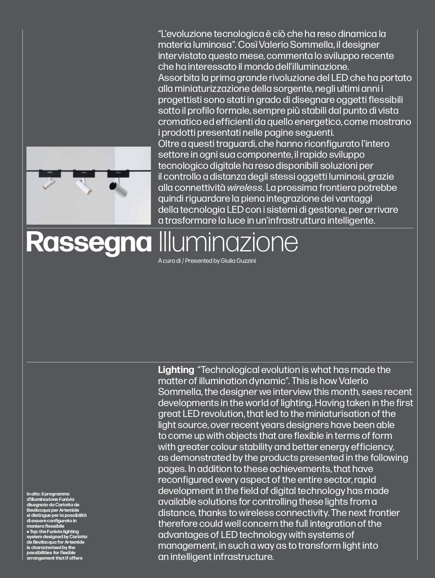 Revista Domus, news iluminacion