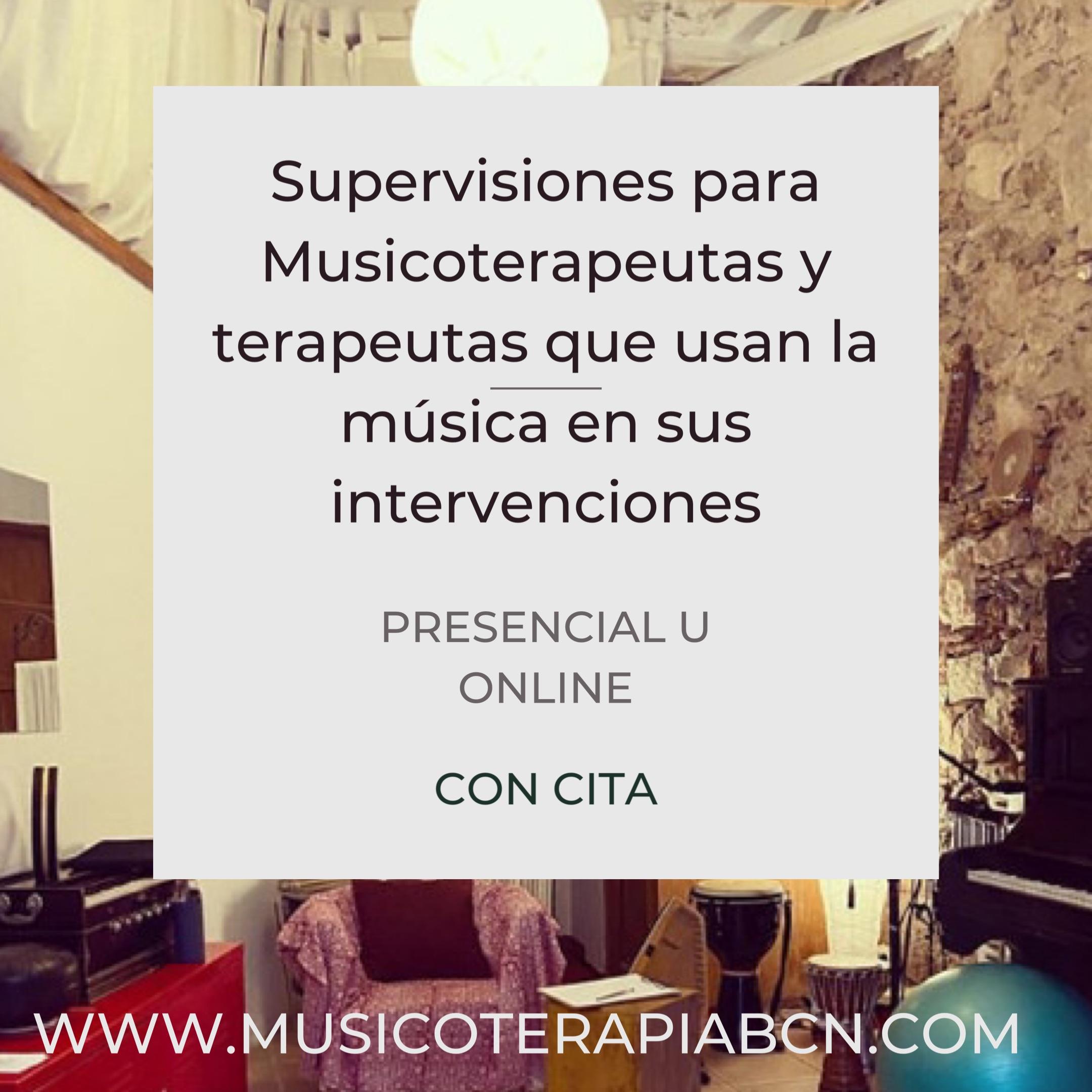 Supervisiones musicoterapia psicologia