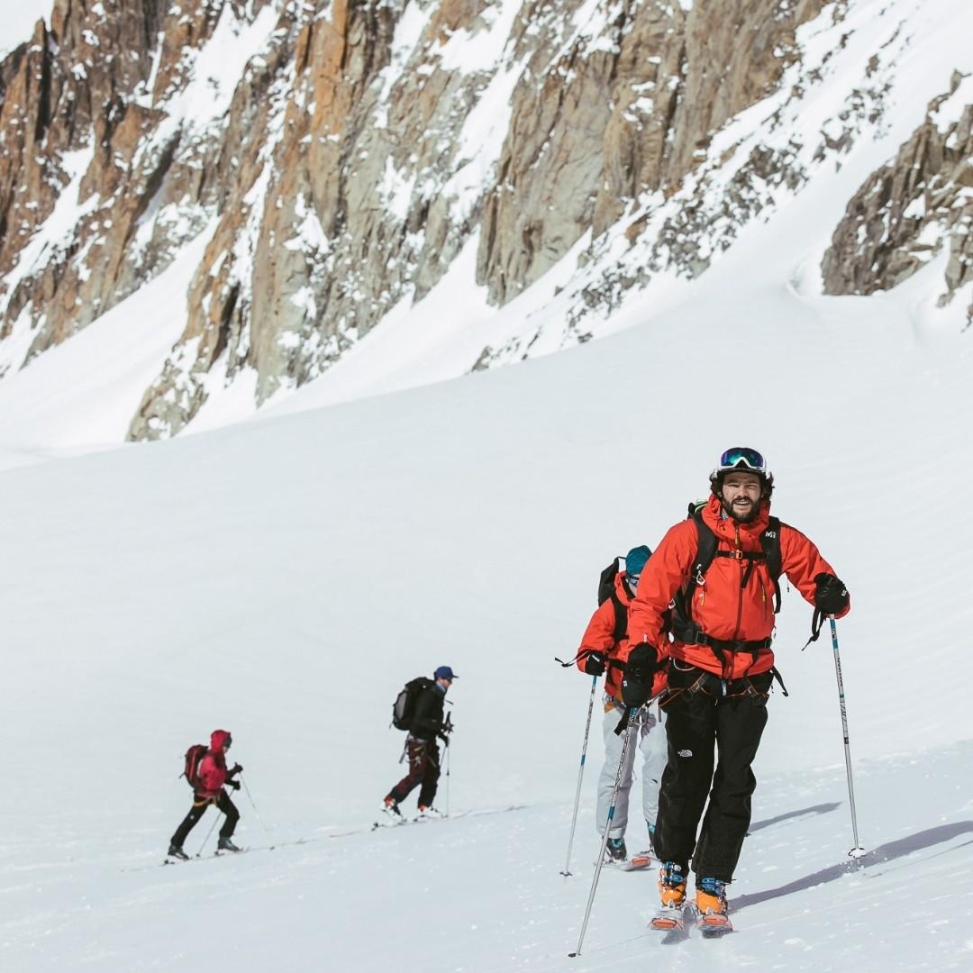 Glacier ski groupe