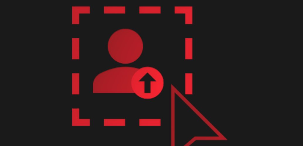 Red avatar icon
