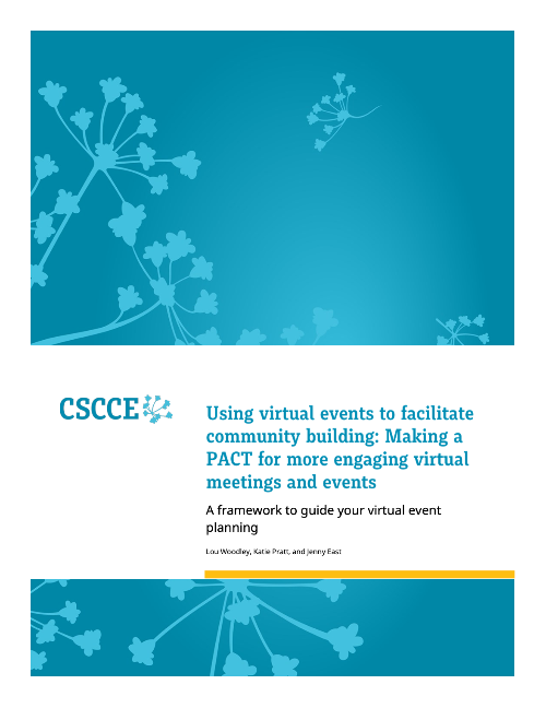 """the cover of the CSCCE """"making a PACT"""" virtual events guidebook"""