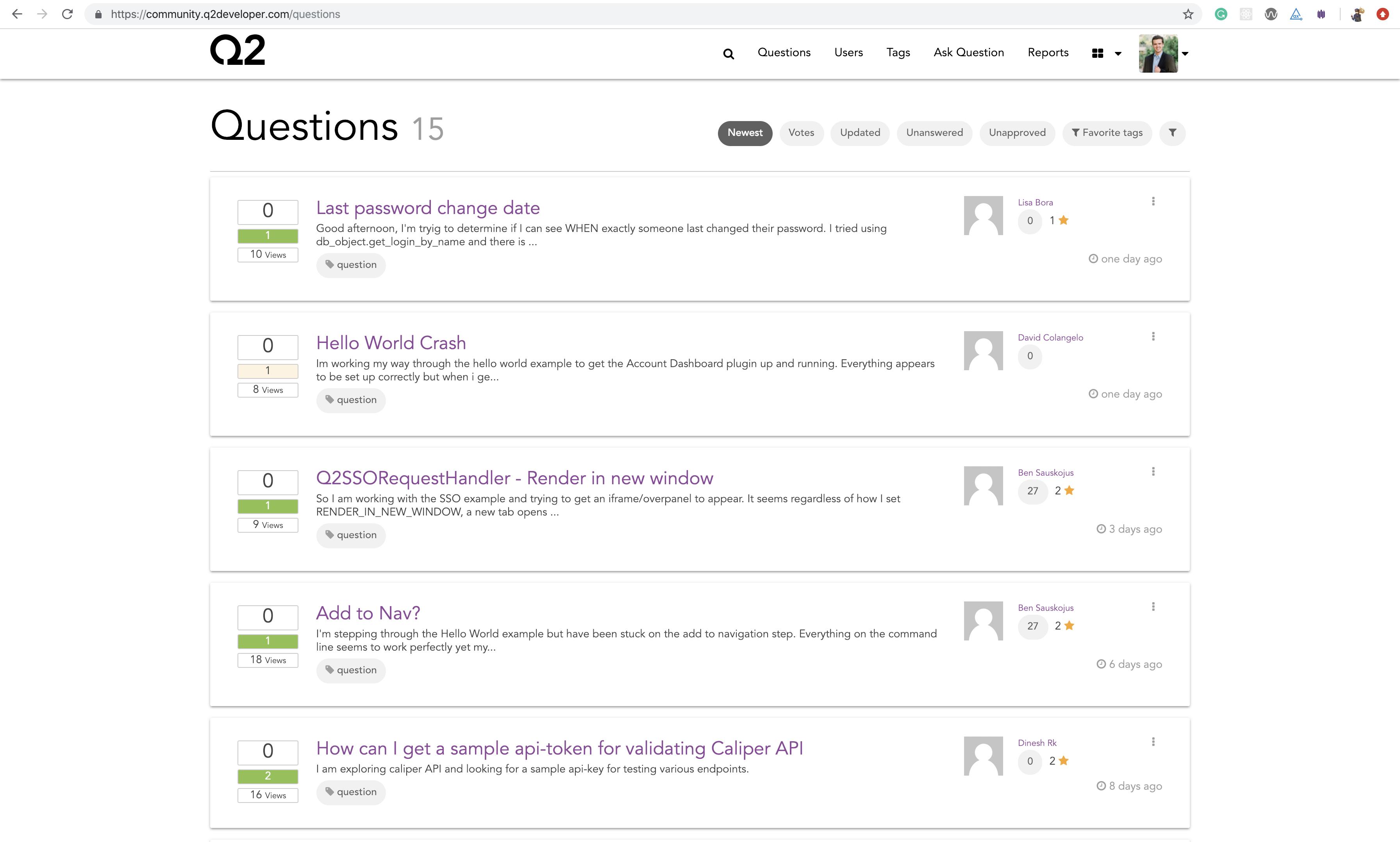 community.Q2developer.com