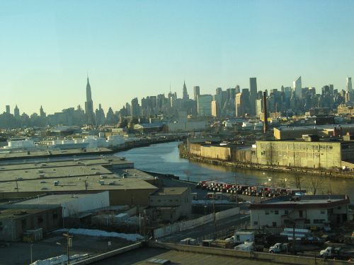 Another view of Newtown Creek with Manhattan in the background