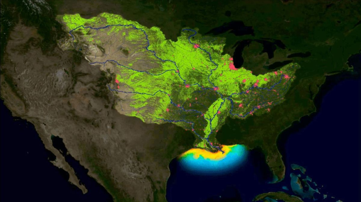 map of Mississippi River / Gulf of Mexico watershed | image source: NOAA