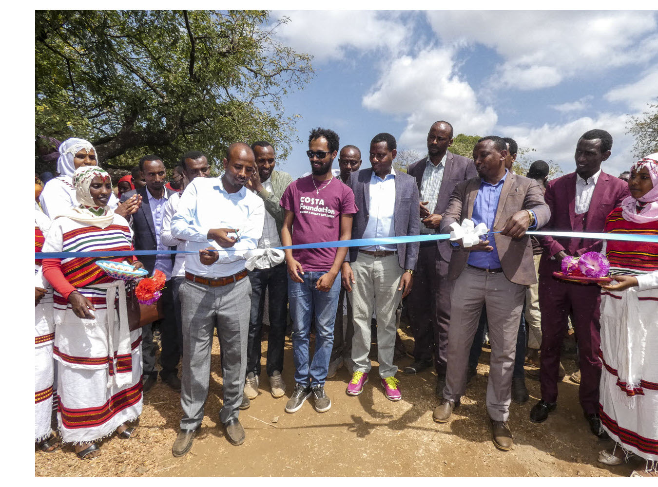 Ribbon cutting at the Bekeye Primary School inauguration