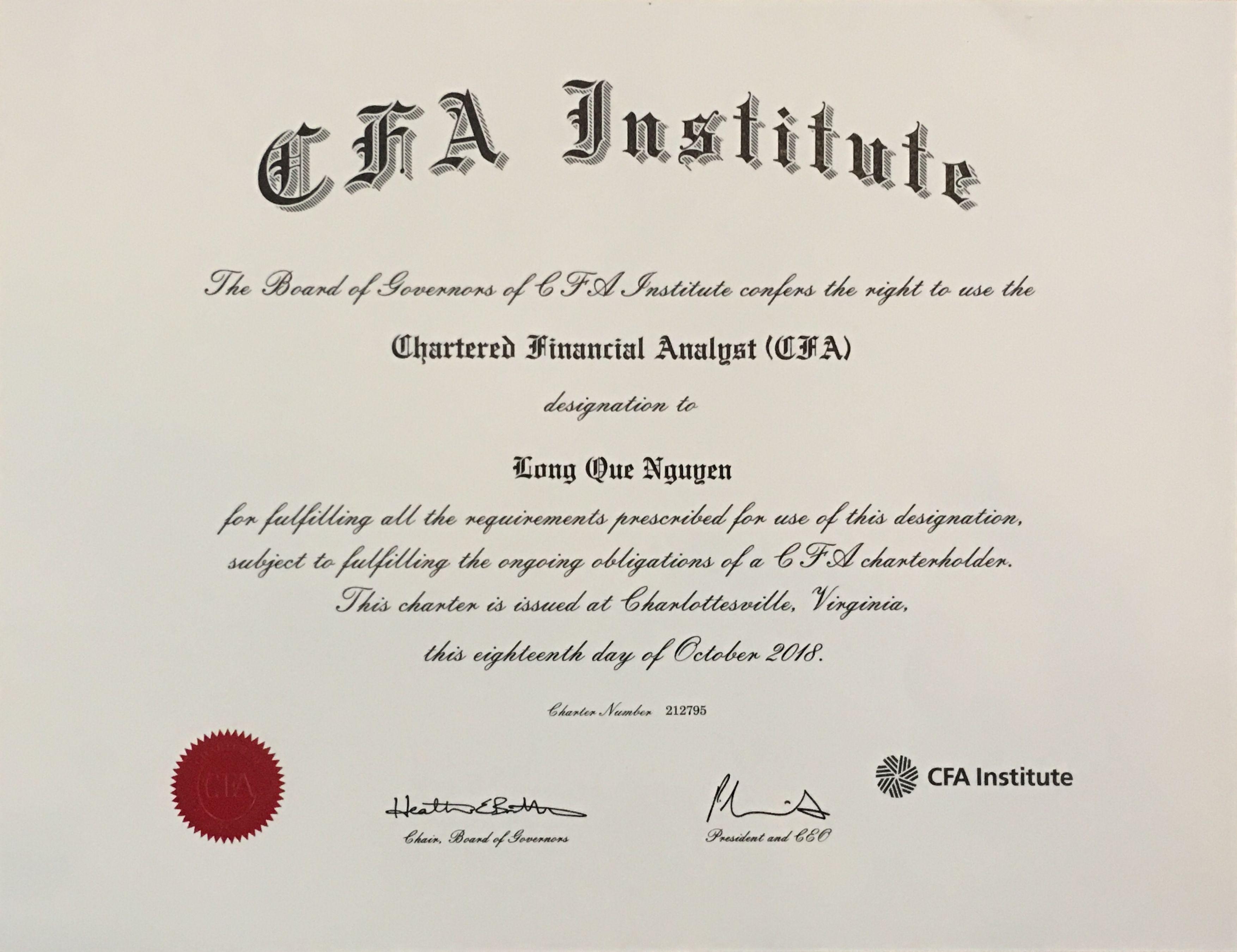 Chung chi CFA