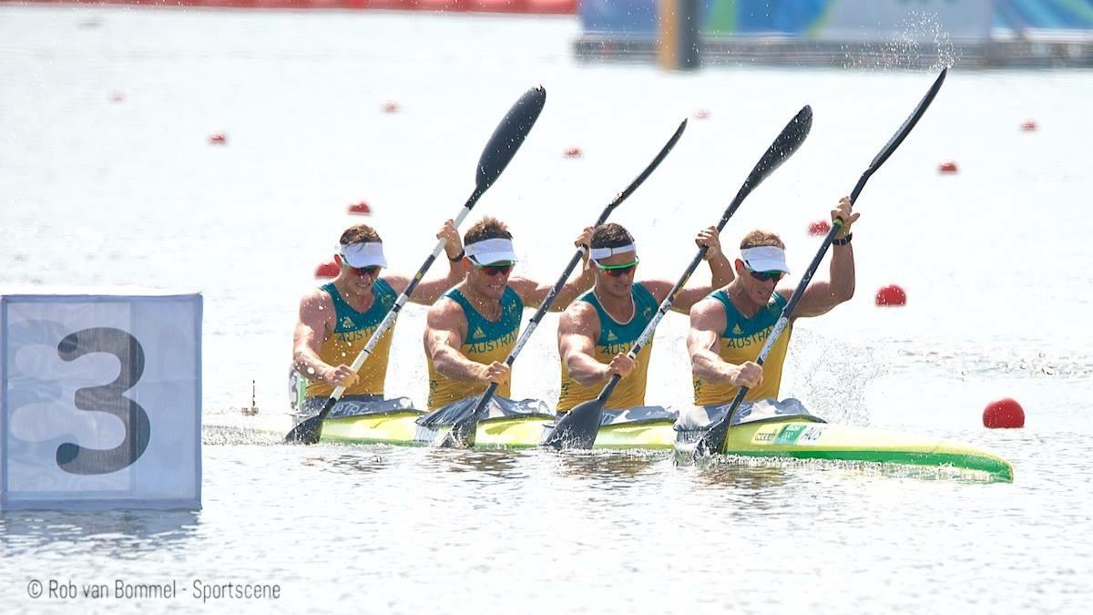 Jordan Wood, Jacob Clear, Riley Fitzsimmons, Ken Wallace @ Rio 2016 - Photo Rob van Bommel Sportscene