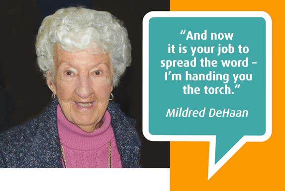 Mildred DeHann, Photo from Spectrum Society