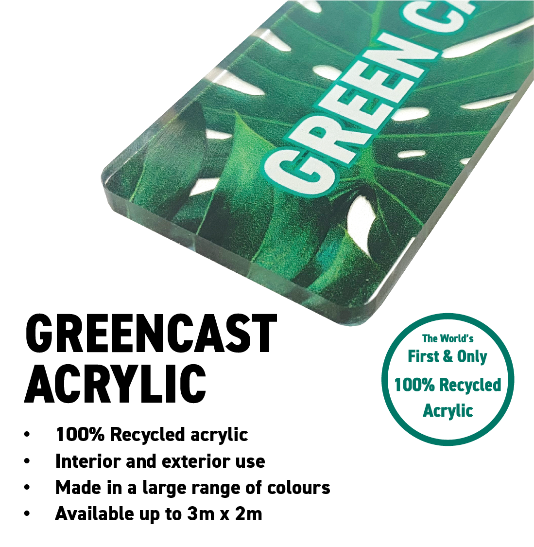 Greencast Acrylic Amari 100% recycled