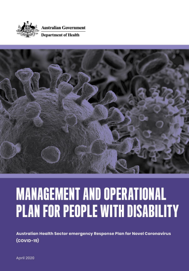 Federal Government Management and Operational Plan for People with Disability