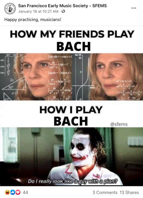 Bach Meme- FB Post