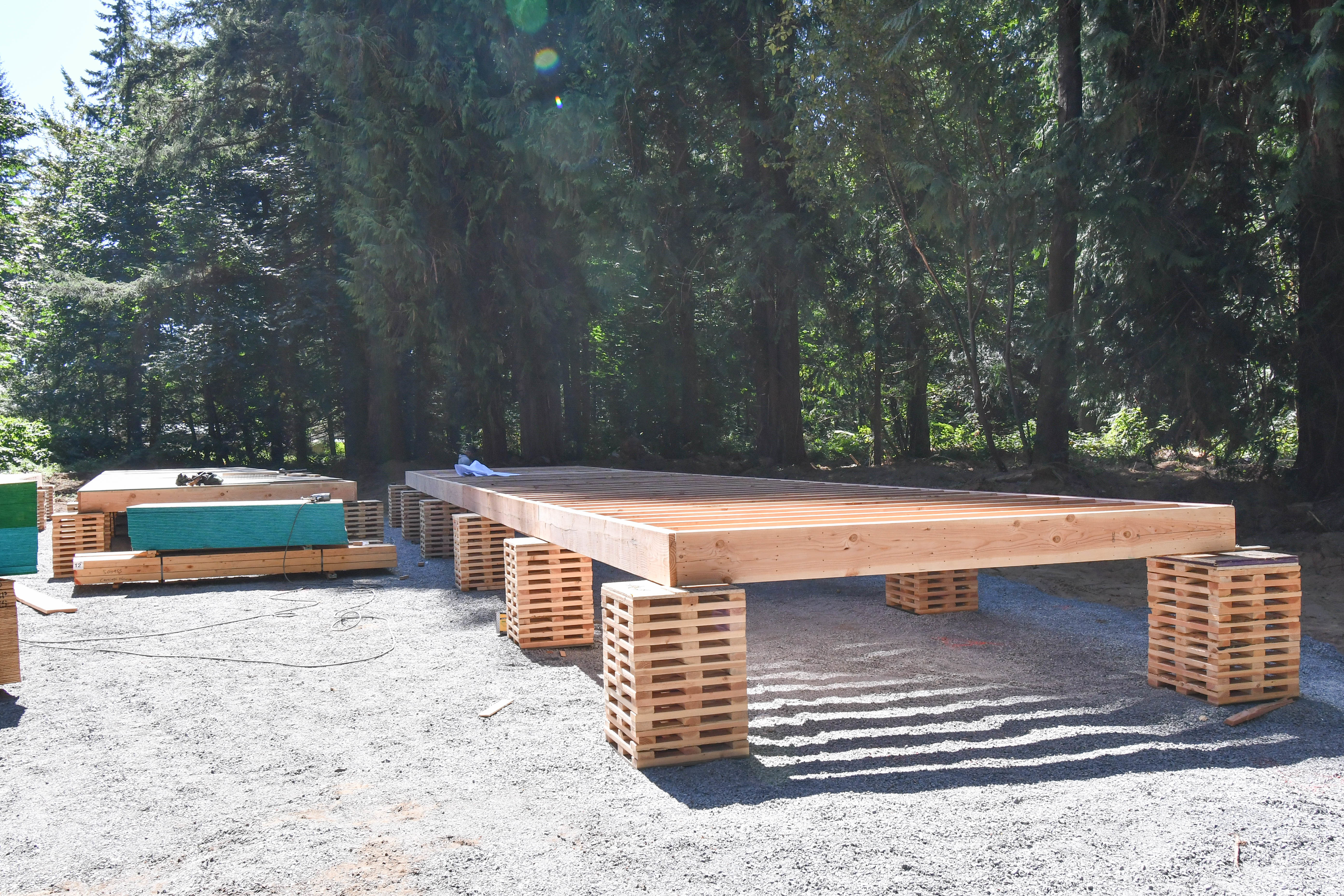 Floors for the community building.