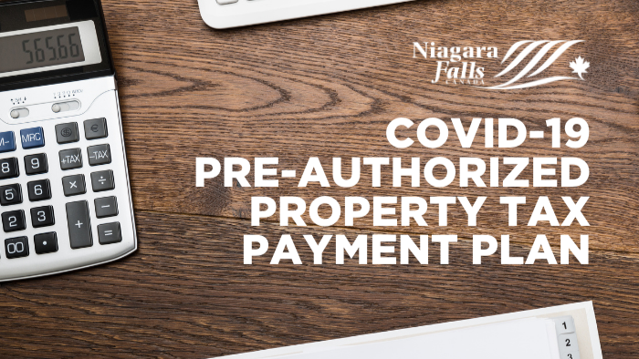 COVID-19 Pre-authorized property tax payment plan