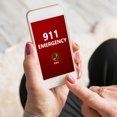 911 Emergency on a mobile phone