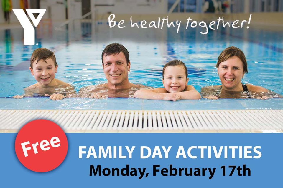 YMCA Free Family Day activities on Monday, February 17, 2020