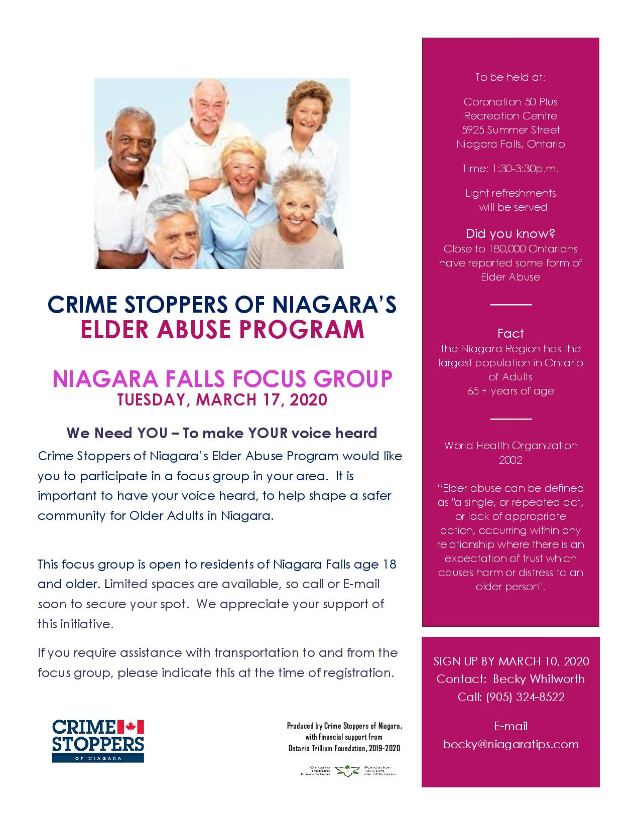Focus Group by Crime Stoppers