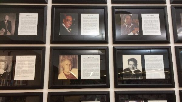 arts and culture wall of fame.