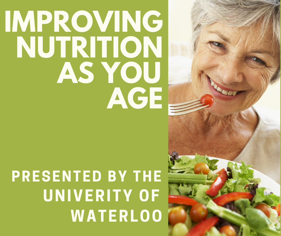 Improving nutrition as we age