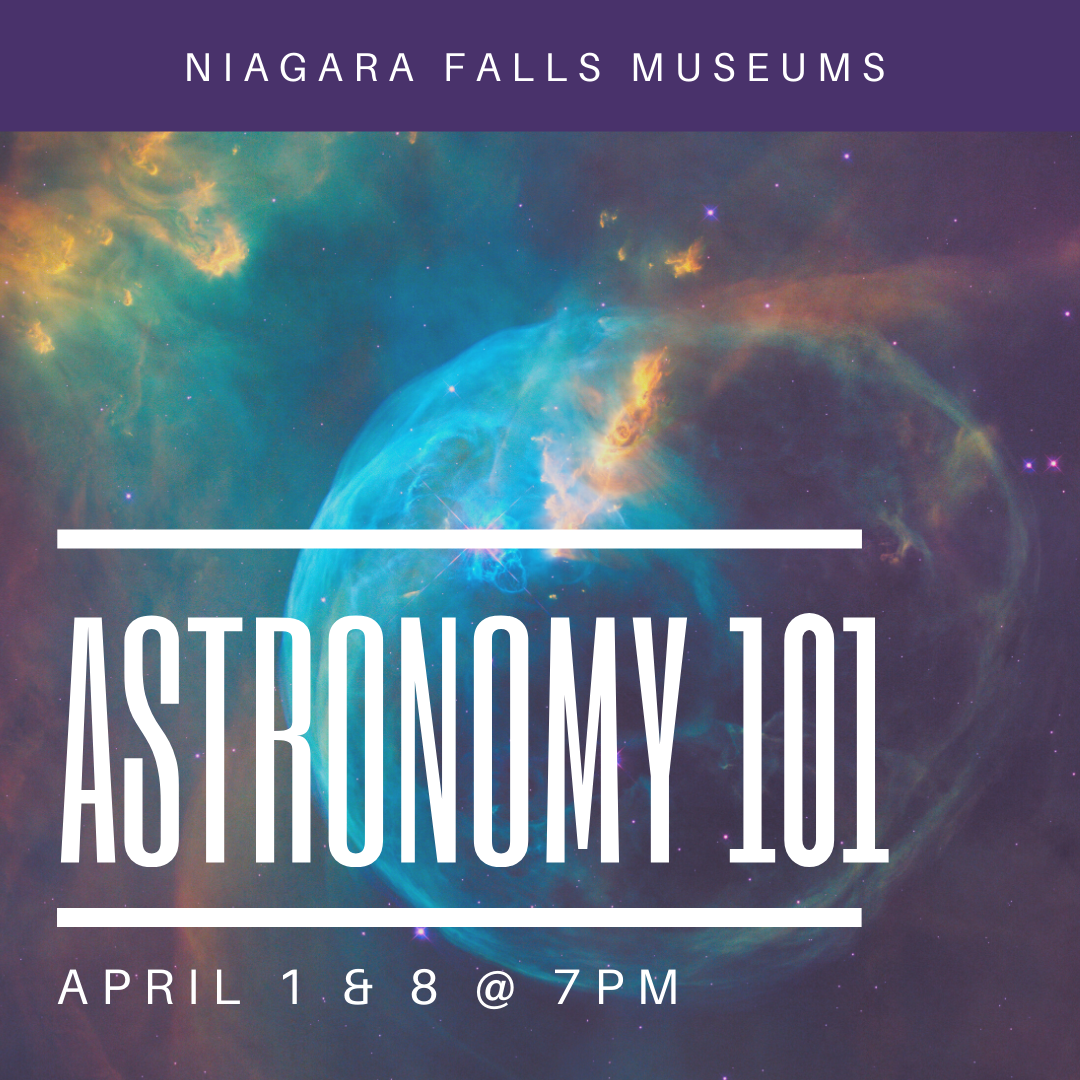 Astronomy 101, April 1 & 8 at 7pm