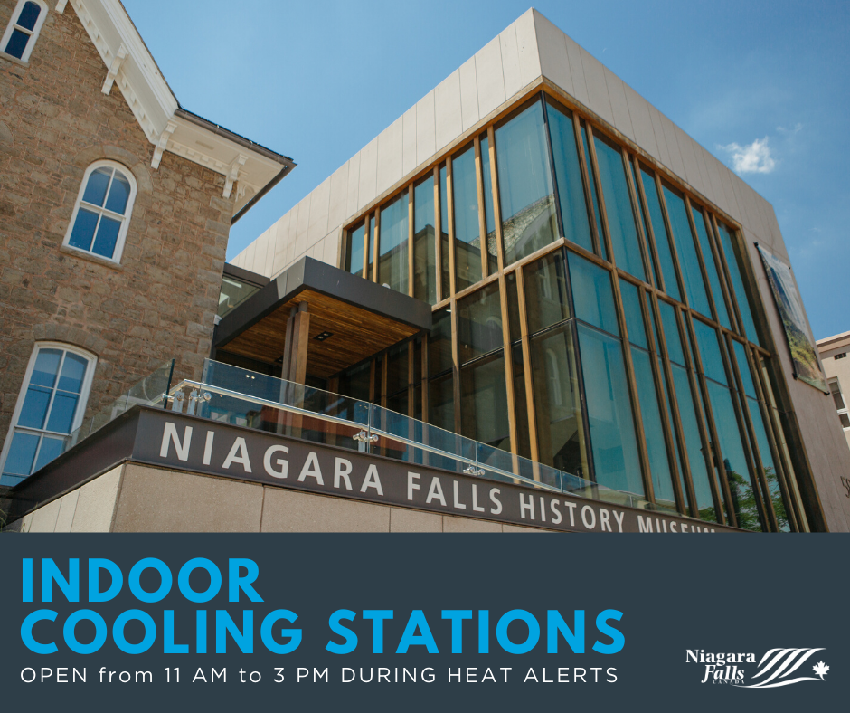 """Photo of Niagara Falls History Museum. """"Indoor Cooling Stations. Open 11 a.m. to 3 p.m. during heat alerts"""""""