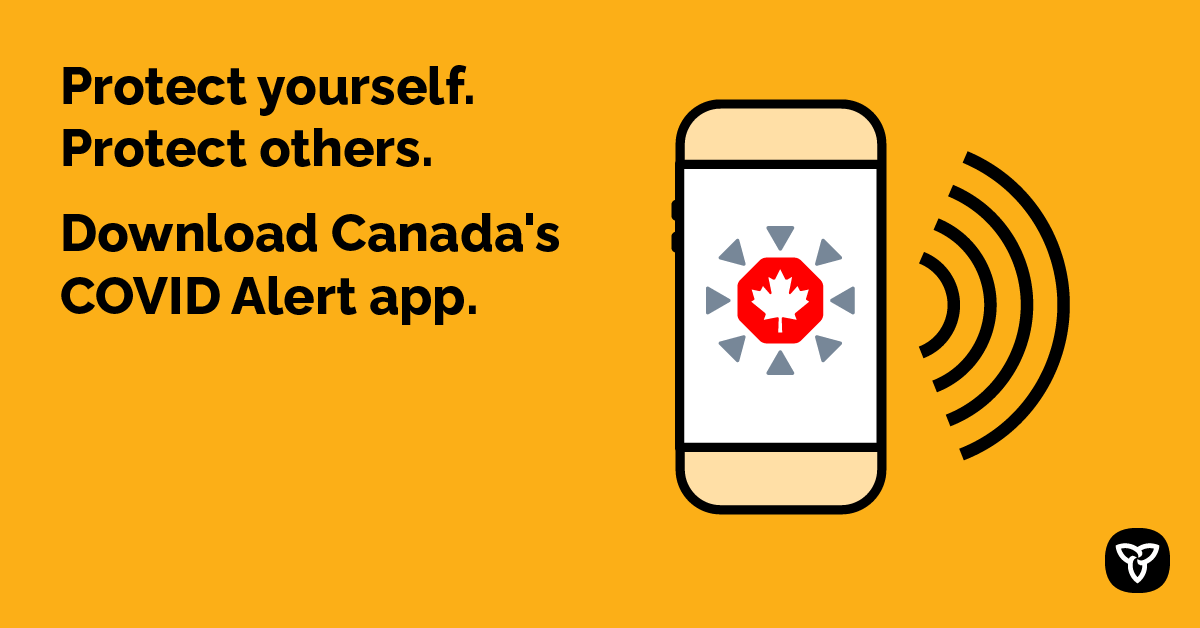 Protect yourself. Protect others. Download Canada's COVID Alert app.