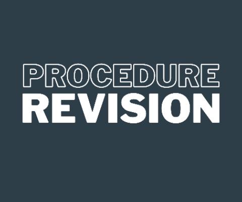 Procedure revision