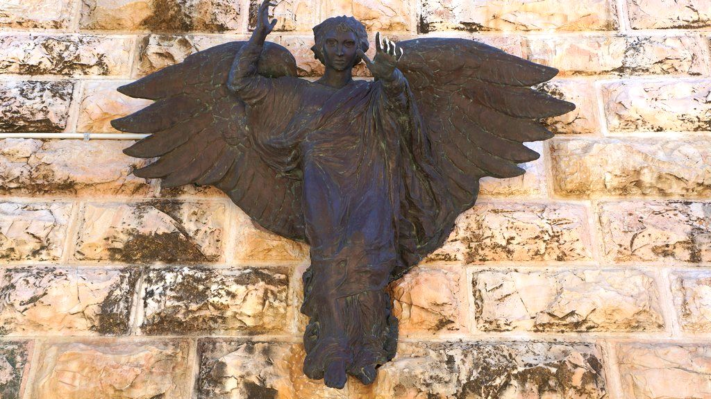 Bronze angel, Shepherd's Field Church, Bethlehem