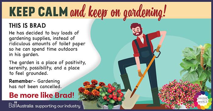 Keep calm & carry on gardening