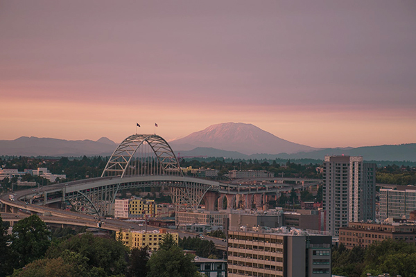 Landscape image of downtown Portland