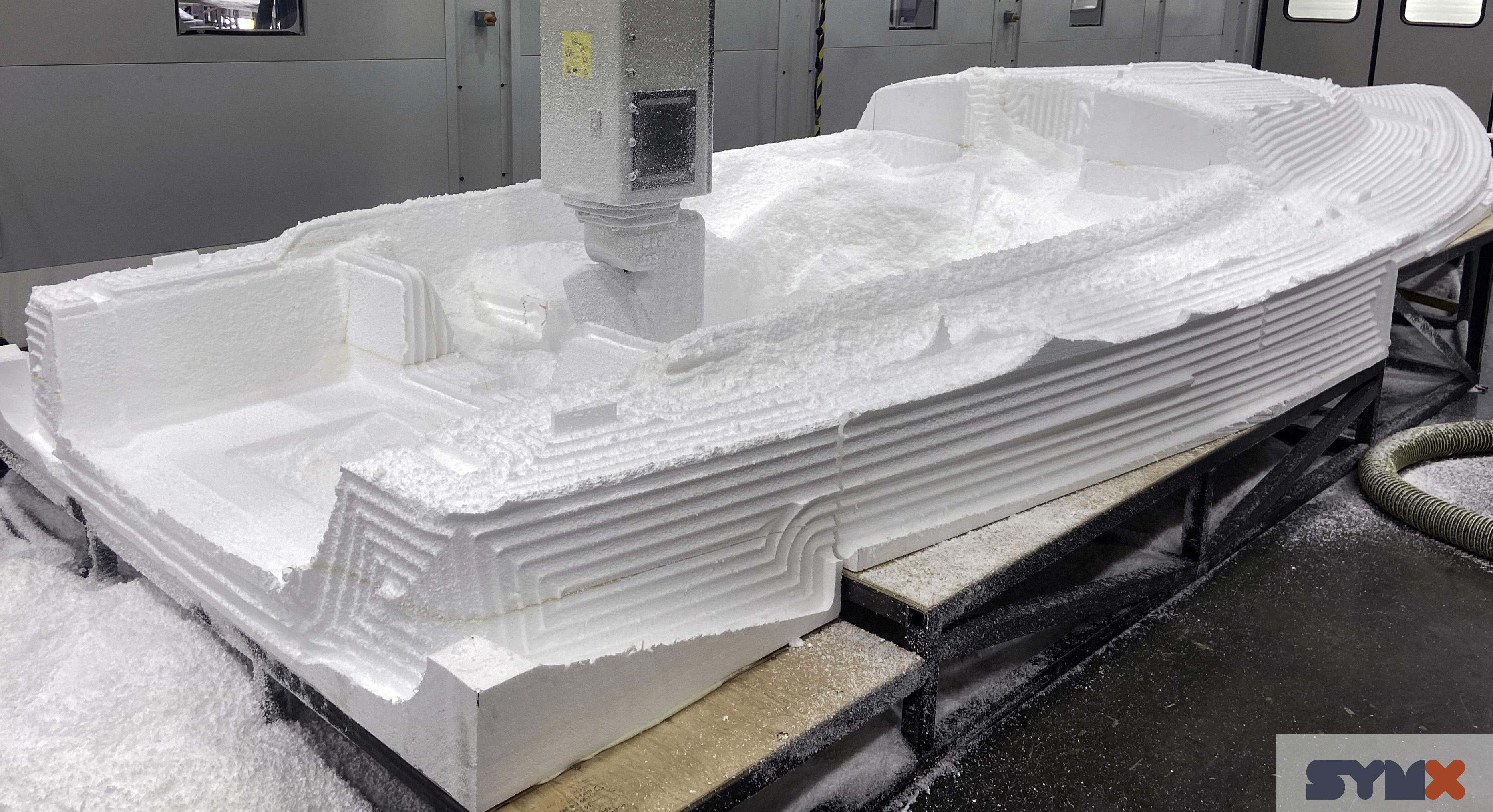 J/9 deck mold CNC milling