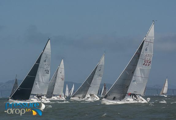 J/105s sailing on San Francisco Bay