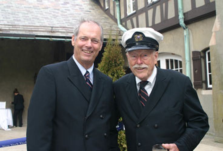 Commodore Harry Anderson and Gary Jobson