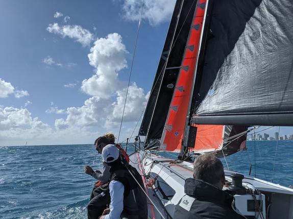 J/121 sailing off Miami, Florida