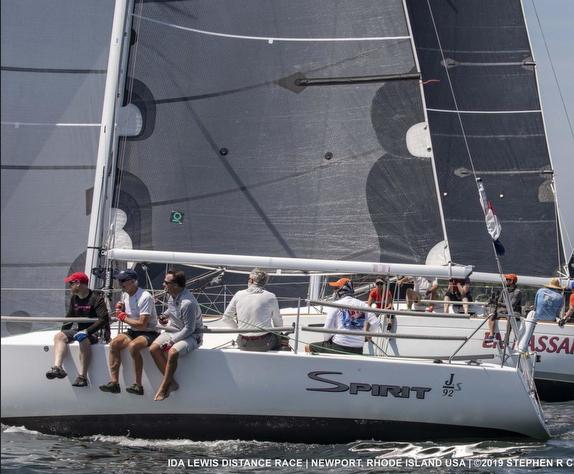 J/92 sailing off Newport, RI