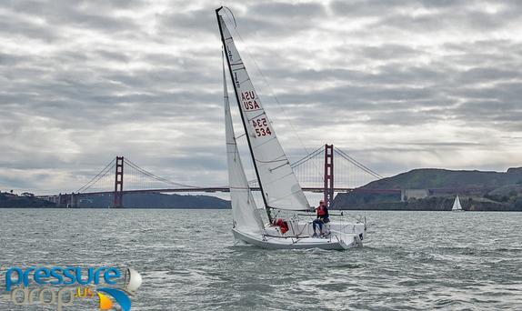 J/70 sailing San Francisco Bay- photo by Pressure-drop.us