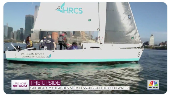 J/80 sailboat on NBC-TV for Hudson River Community Sailing