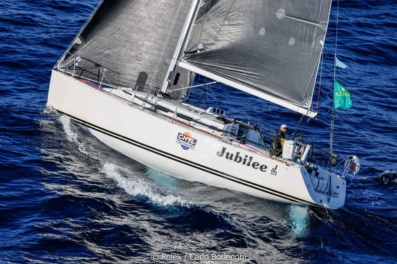 J/109 sailing Rolex Middle Sea Race